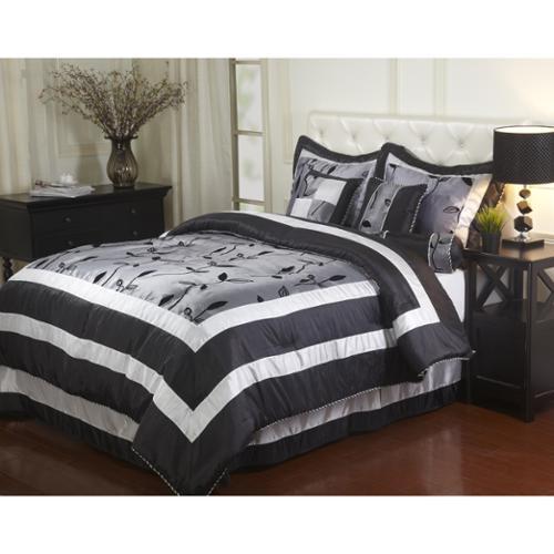 Pastora Silver 7-piece Bedding Comforter Set California King