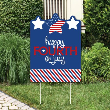 4th Of July Yard Decorations (4th of July - Independence Day Party Decorations - Happy Fourth of July Yard)