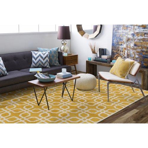 Ebern Designs Murrah Yellow/Ivory Area Rug