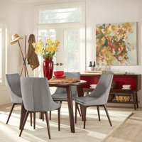Chelsea Lane Baxter 5-Piece Dining Set, 1 Table, 4 Chairs, Multiple Colors of Chairs