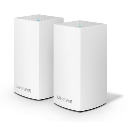 Linksys Velop Dual Band AC2400 Intelligent Mesh WiFi Router Replacement System | 2 Pack | Coverage up to 3,000 Sq Ft | Walmart (Best Home Router System)