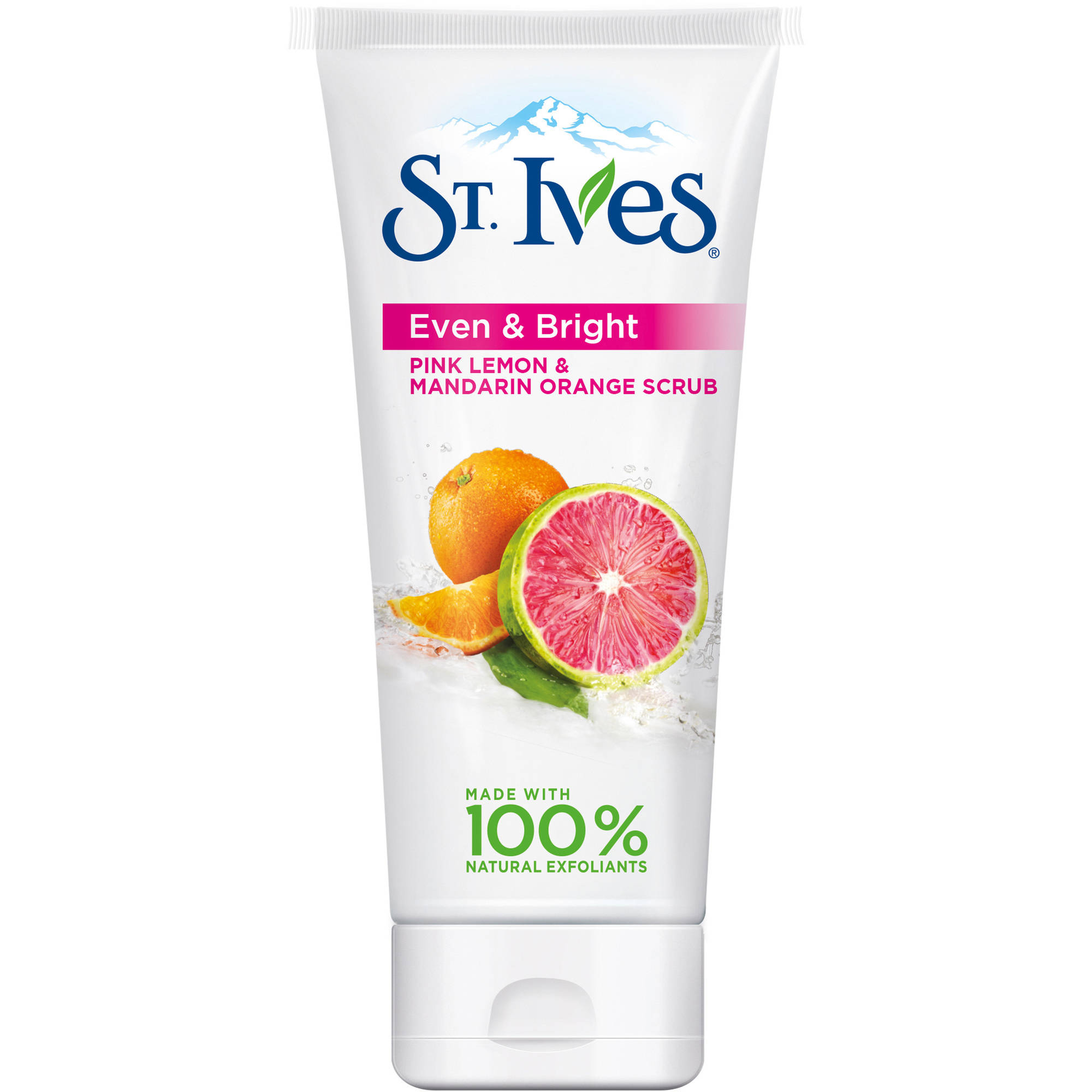 St. Ives Even & Bright Pink Lemon & Mandarin Orange Scrub, 6 oz
