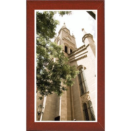 "St. Patrick's Cathedral 2-HARBUI106421 Print 25""x14"" by Harold Silverman - Buildings & Cityscapes in a Affordable Red Mahogany Medium"