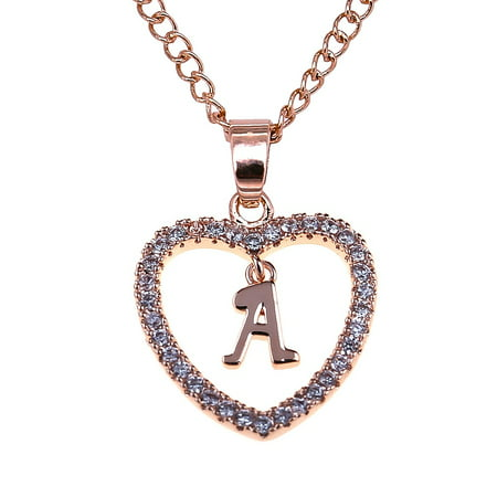 Fancyleo Fashion Women Gift 26 English Letter Name Chain Pendant Necklaces Jewelry 1 Name Pendant Necklace