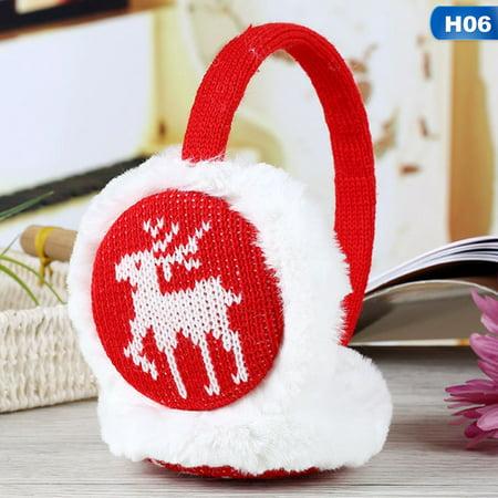 Fancyleo Popular  Christmas Deer Women Girls Kids Ear Warmers Earmuffs Earlap Ear Covers Winter Warm Ear Muffs (Kids Girls Ear Muffs)
