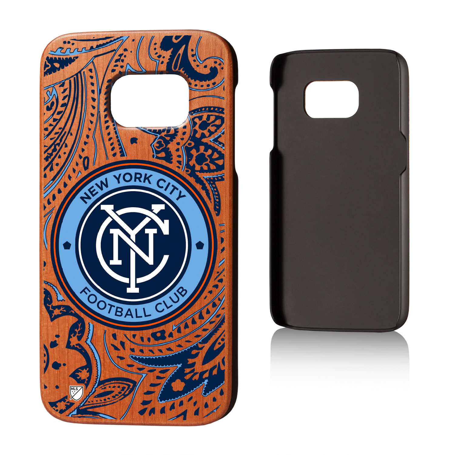 New York City FC NYCFC Paisley Cherry Case for Galaxy S7