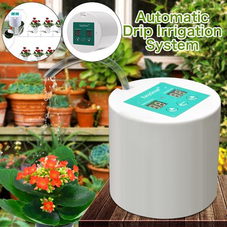 Home Flow Drip Irrigation System Sprinkler Automatic DIY Micro Plant Self Watering Water Timer Controller Garden Hose Kits +10m (Best Irrigation System Controller)