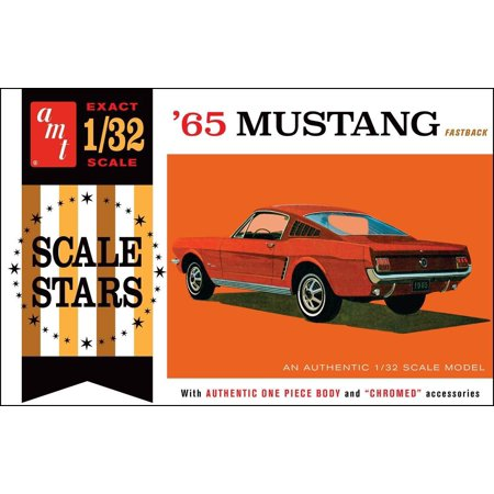 AMT 1042 1965 Ford Mustang Fastback 1:32 Scale Plastic Model Kit - Requires Assembly Plastic Model Kit Assembly