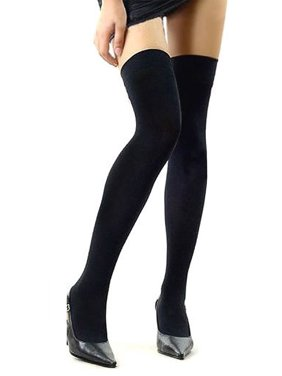 d1539f197bc Product Image Over The Knee Sexy Cotton Compression Socks - Black