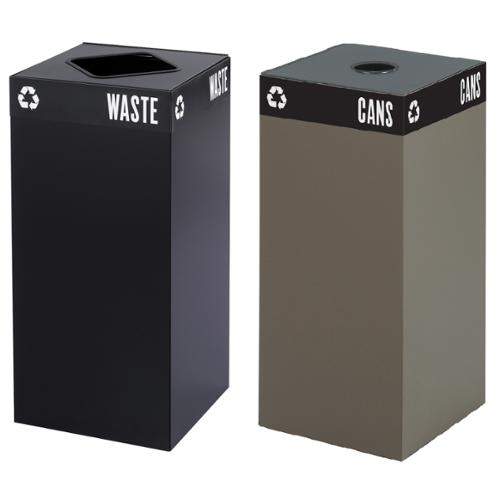 Safco Public Square Recycling Receptacle Base, 31-Gallon (top sold separately) Brown