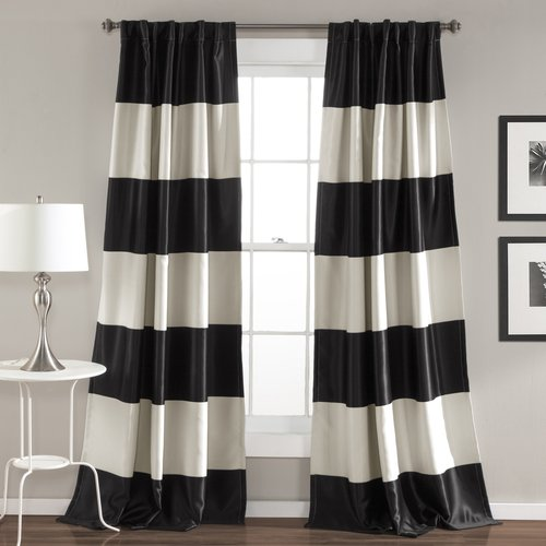 Montego Stripe Window Curtain Set Gold Walmart Com