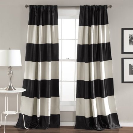 Montego Stripe Window Curtain Set, Gold