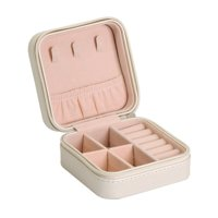 e621cec4b Small Portable Travel Jewelry Box Organizer Storage Case for Rings Earrings  Necklaces