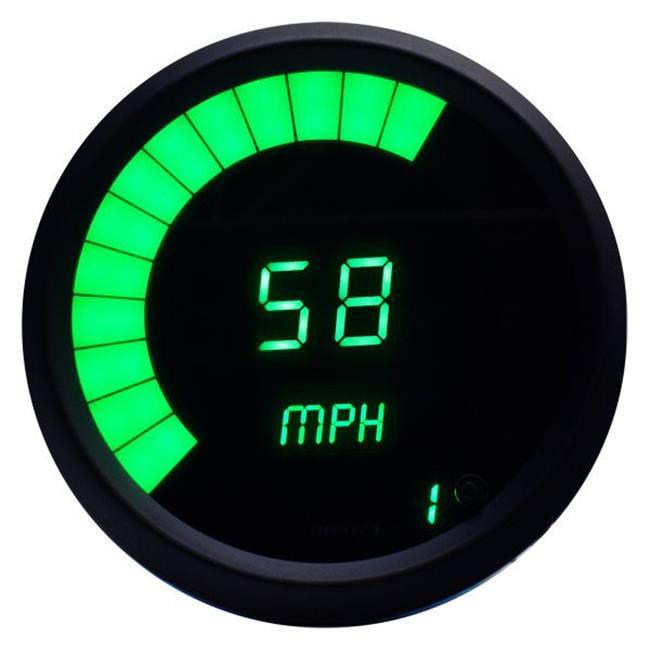 Intellitronx M9222G Green LED Digital Memory Speedometer