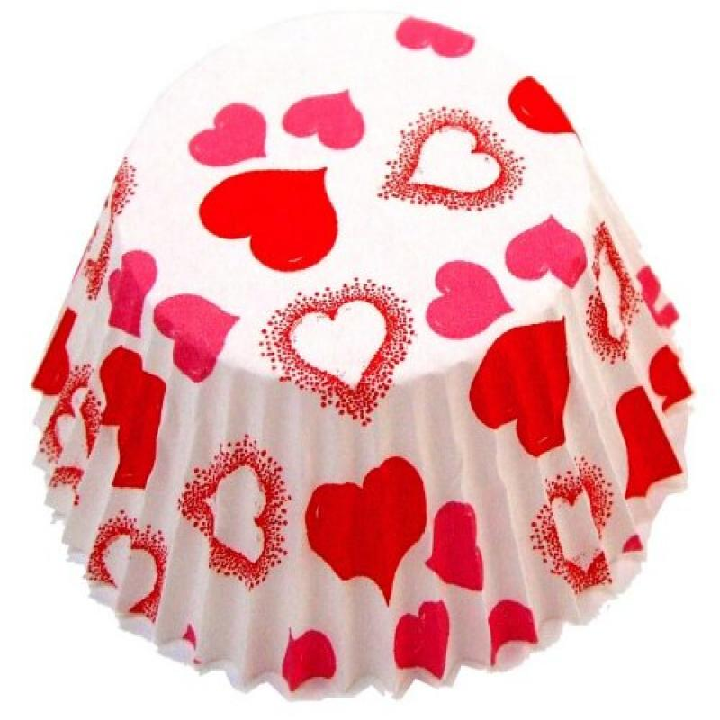 Fox Run 4966 Heart Bake Cups, Standard, 50 Cups
