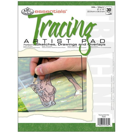 Royal Langnickel 30-Sheet Tracing Essentials Artist Paper Pad, 9-Inch by 12-Inch, This essentials artist high-quality paper pads are designed for a.., By ROYAL BRUSH