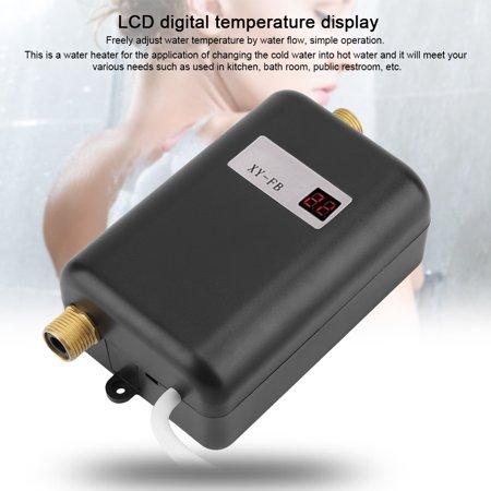 Yosoo Tankless Water Heater, 110V 3000W Mini Electric Tankless Instant Hot Water Heater Bathroom Kitchen Washing US - image 2 de 8