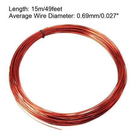 0.69mm diamètre fil émaillé Fil cuivre émaillé Longueur 49'' bobinage - image 1 de 3