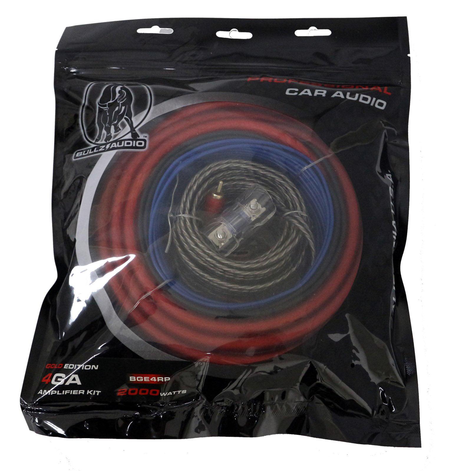 Bullz Audio 4 Gauge Car Amplifier/Amp Installation Power