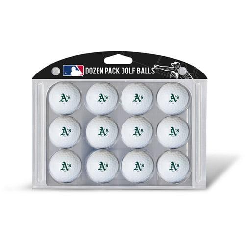 Team Golf MLB Oakland Athletics Golf Balls, 12 Pack