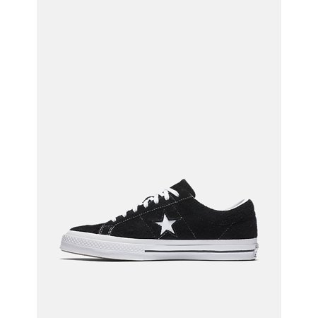 Mens Converse One Star Ox  Low Suede Black White 158369C - Baby Clothes Converse