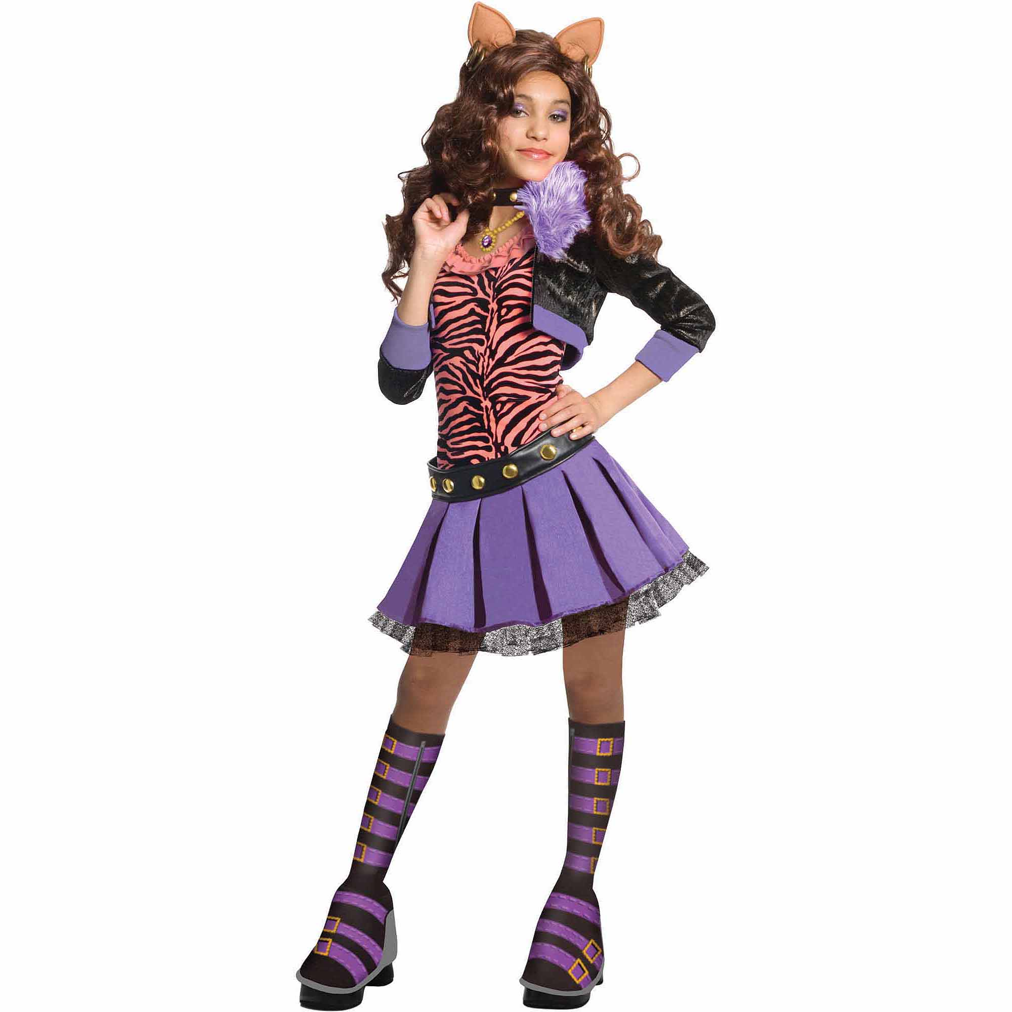 monster high clawdeen wolf child halloween costume walmartcom - Clawdeen Wolf Halloween Costume