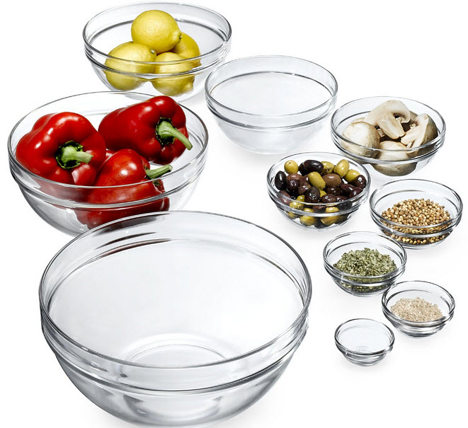 Luminarc 10pc Glass Bowls