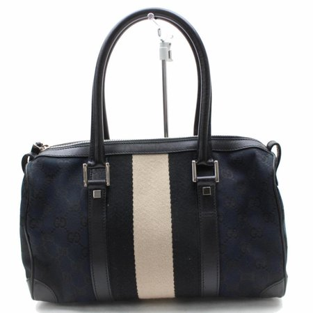- Boston Sherry Monogram Web 868854 Black Canvas Shoulder Bag