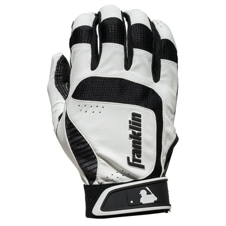 Franklin Sports Shok-Sorb Neo Adult Batting Glove - White/Black