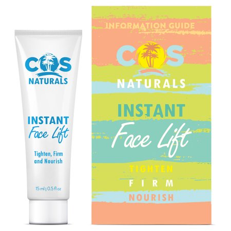 COS Naturals INSTANT FACE LIFT Natural Organic Ingredients Anti Wrinkle Cream Extremely Tighten And Firm Remove Signs of Aging Fine Lines Eye Puffiness Dark Circles Bags, 15ml 0.5