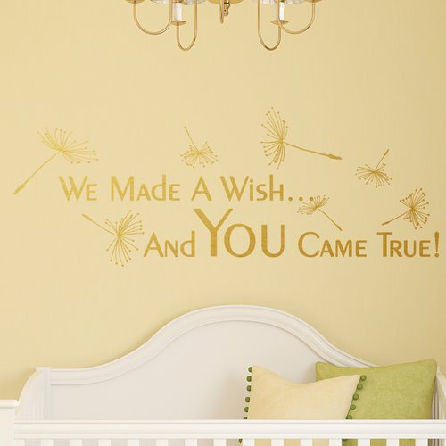Harriet Bee We Made A Wish And You Came True Wall Decal