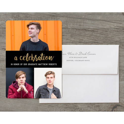 All That Glam Deluxe Graduation Invitation