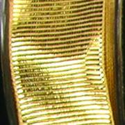 "Gold Metallic Grosgrain Wired Craft Ribbon 2.5"" x 27 Yards"