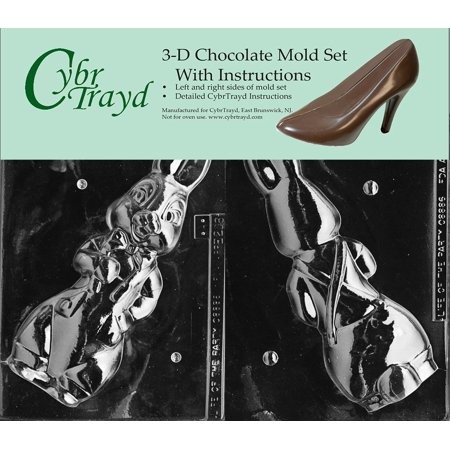 Cybrtrayd E206AB Chocolate Candy Mold, Includes 3D Chocolate Molds Instructions and 2-Mold Kit, Bunny in Jeans