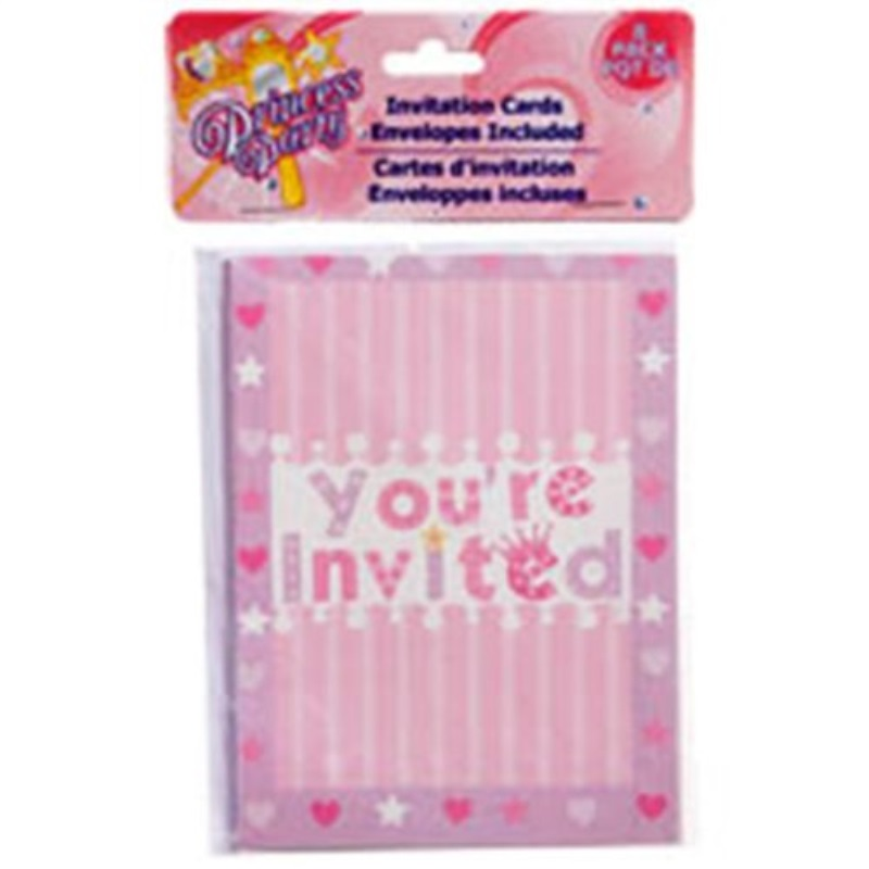 Princess Hearts Party Invitations, 8-ct. Packs