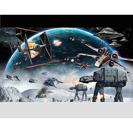 1/4 Sheet Star Wars Battle Edible Frosting Cake Topper *](Star Wars Cake Decoration)