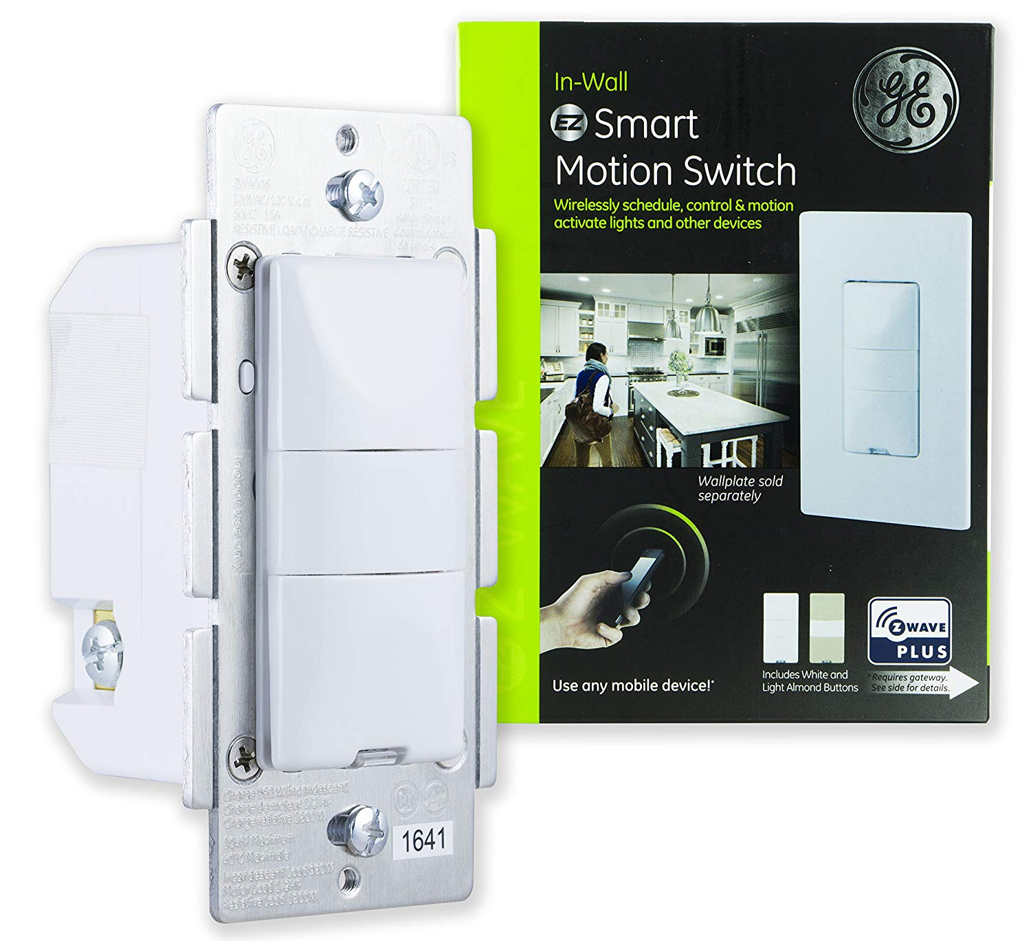 GE Z-Wave Plus In-Wall Smart Motion On/Off Switch, Hub Required