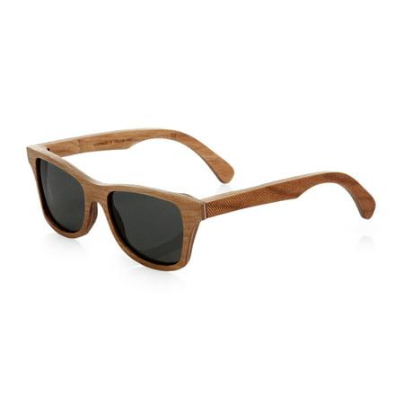Shwood Canby Polarized Wood Men's Sunglasses Herringbone Frame Grey Polarized (Canby Woods)
