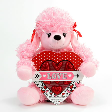 - Progressive Balloons and Gifts Pink Poodle Bear Heart Box Gift