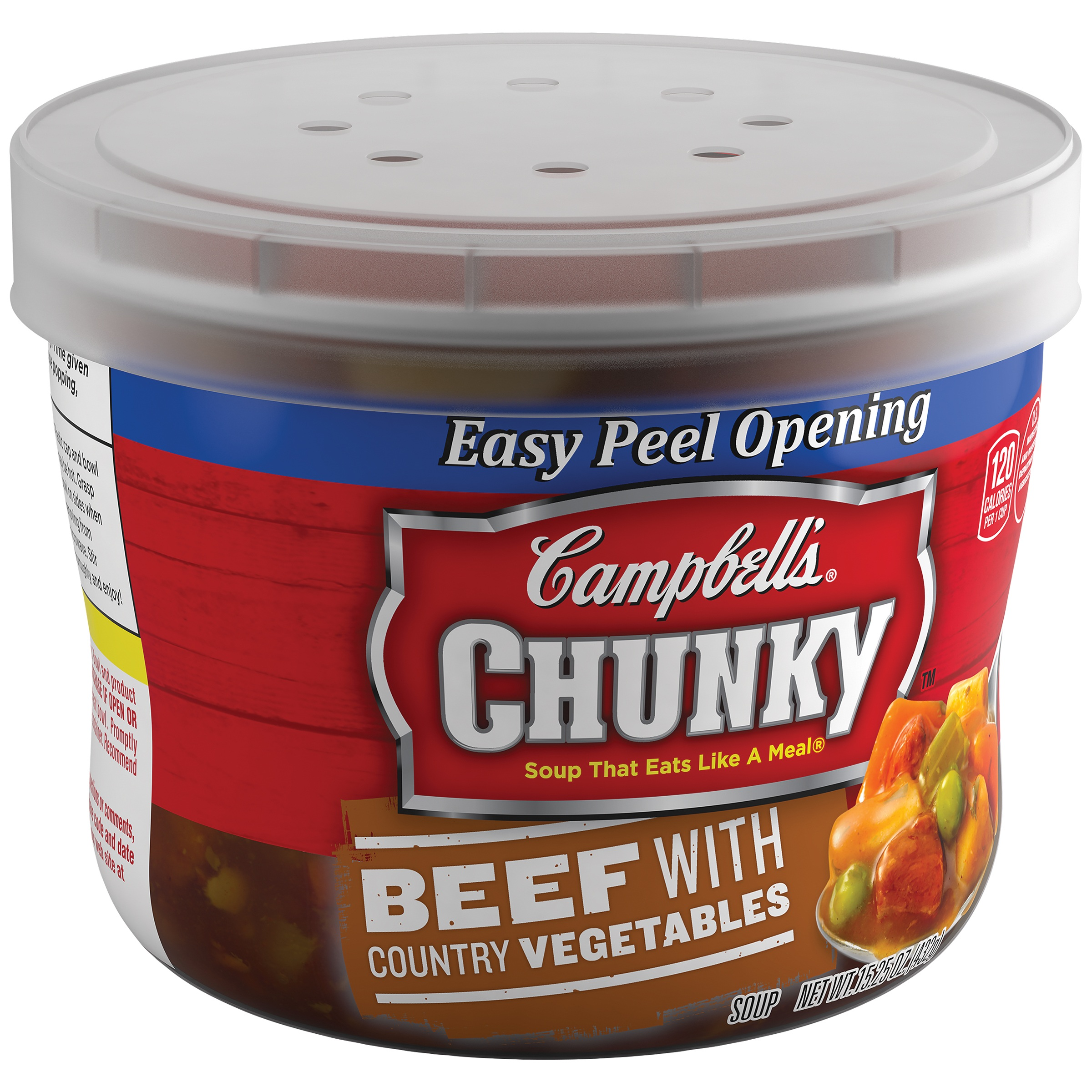 Campbell's® Chunky™ Beef with Country Vegetables Soup Microwavable Bowl, 15.25 oz.