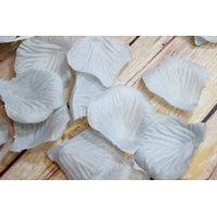 Quasimoon Gray / Grey Silk Rose Petals Confetti for Weddings in Bulk by PaperLanternStore