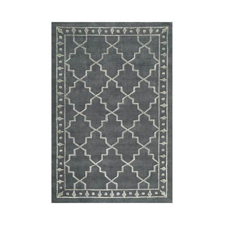 Machine Made Rug in Charcoal (3 ft. L x 2 ft. W)