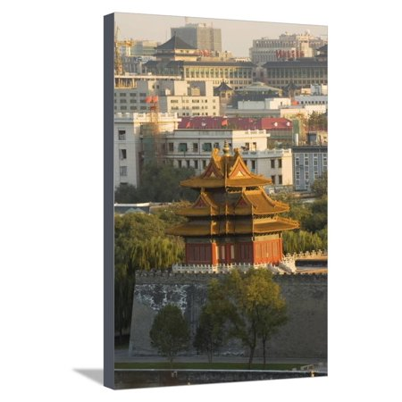 A Watch Tower on the Wall of the Forbidden City Palace Museum, Beijing, China, Asia Stretched Canvas Print Wall Art By Christian (Christian And Muslim Views On Life After Death)