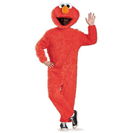 Sesame Street Elmo Plush Prestige Men's Adult Halloween Costume, XL - Court Street Halloween