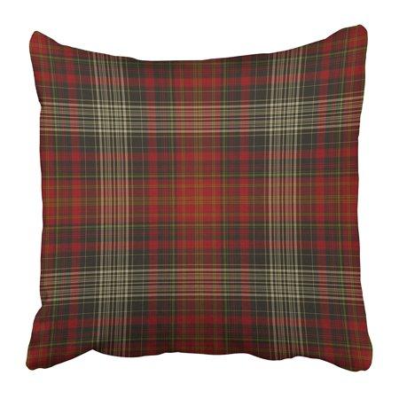 ECCOT Brown Christmas Plaid Pattern Beige Tartan Autumn Fall Flannel Brass Bronze Cabin Pillowcase Pillow Cover 20x20 (Cabin Flannel)