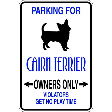 Custom Wall Decal Parking For Cairn Terrier Parking Signs - Sticker - Vinyl Wall : 9 X18