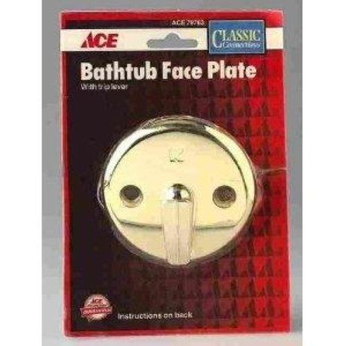 Ace Polished Brass Bathtub Face Plate w/Trip Lever, 79763