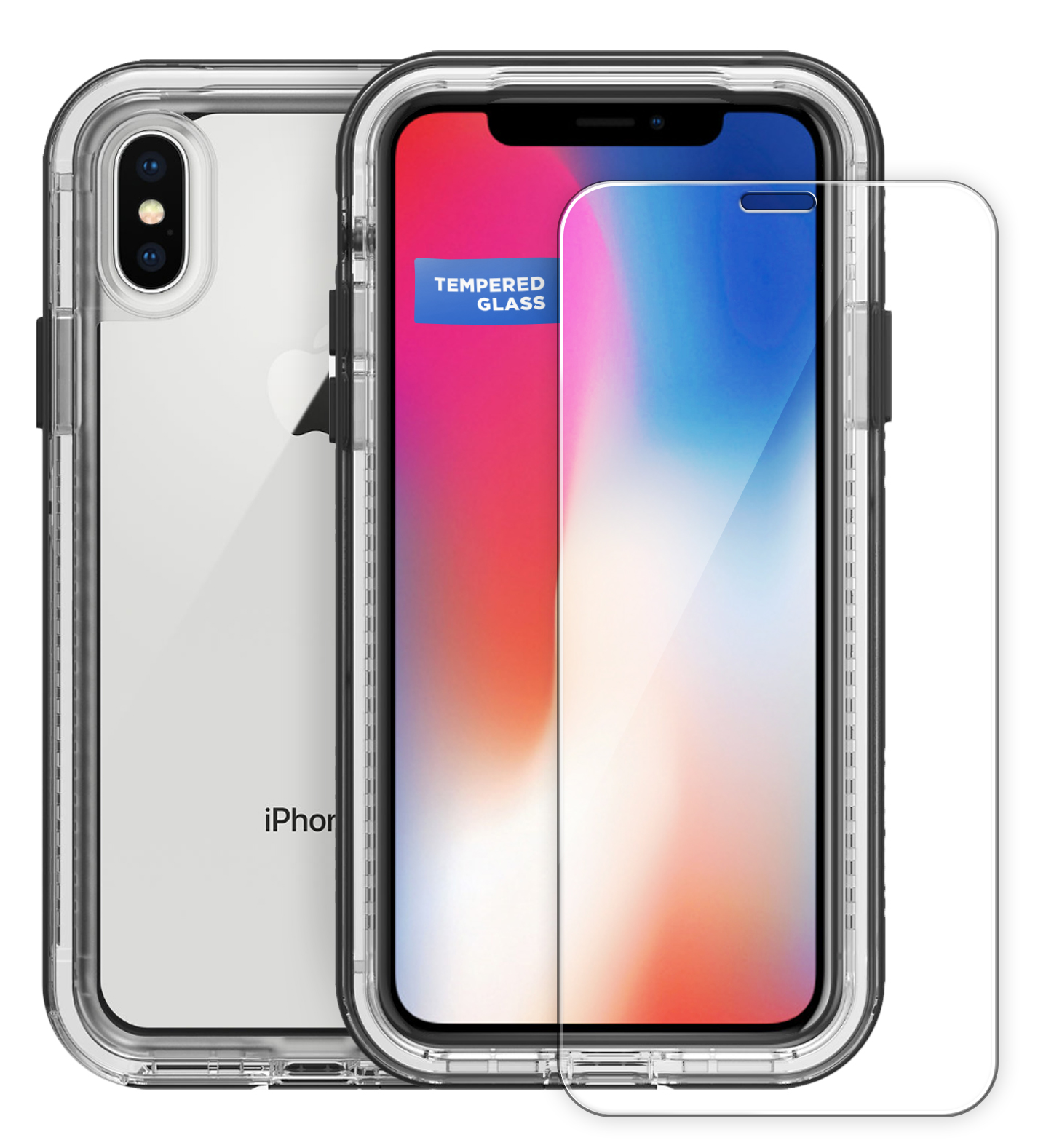 Tempered Glass Screen Protector for Lifeproof Next Case - iPhone X