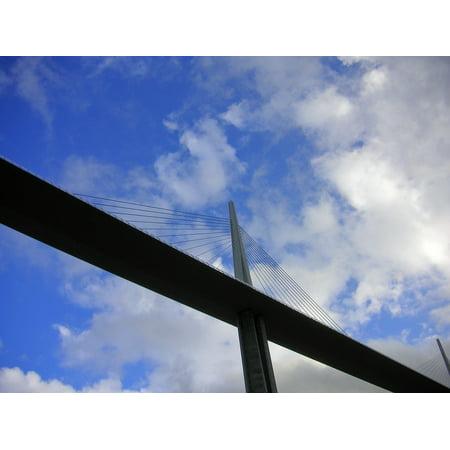 LAMINATED POSTER Millau Bridge Construction Span Engineering Bridge Poster Print 24 x 36