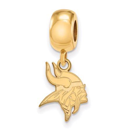 Minnesota Vikings Charm (Minnesota Vikings Gold-Plated Bead Dangle Charm - No)